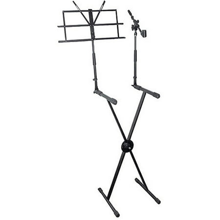 pyle pro keyboard stand with music stand and microphone boom. Black Bedroom Furniture Sets. Home Design Ideas