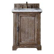 "James Martin Providence 26"" Single Bathroom Vanity in Driftwood-4cm Tropical Brown"
