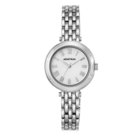 Armitron Women's Round Dress Watch, Silver Bracelet (Armitron Watches Women)