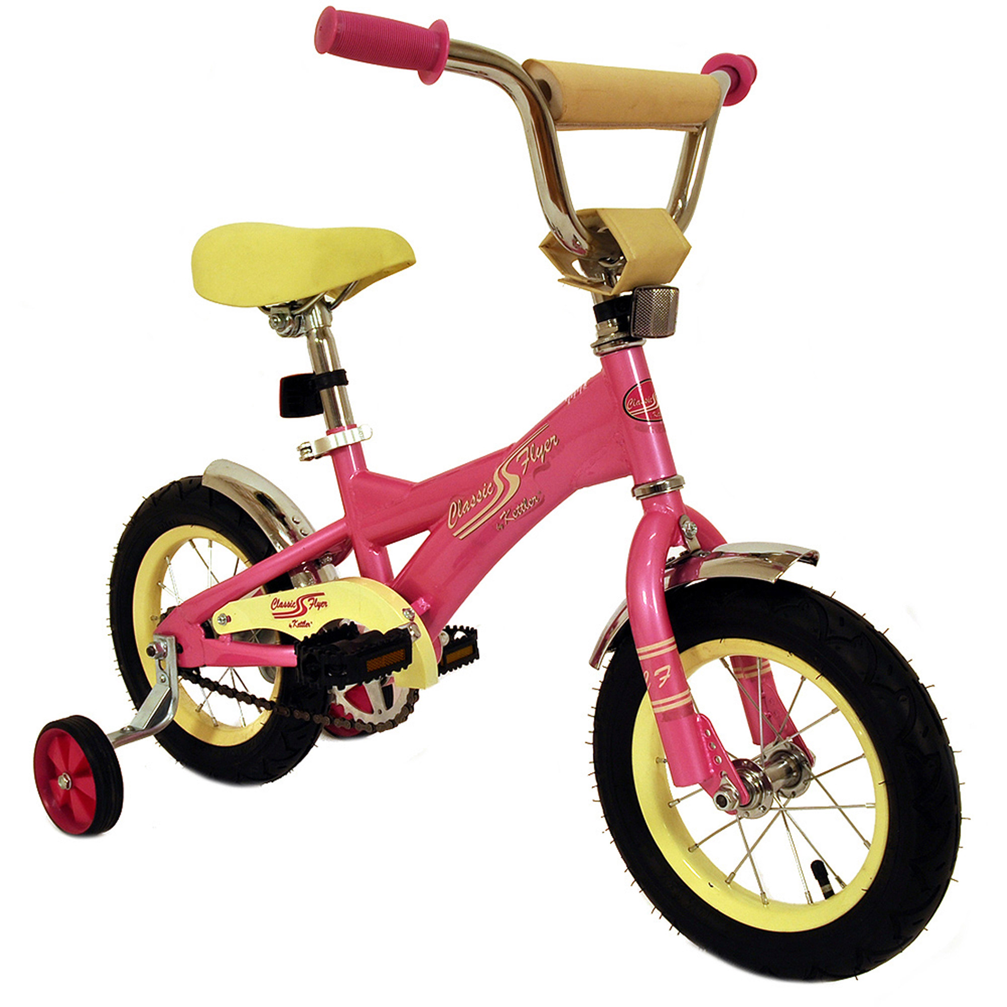 "12"" Verso Classic Flyer Retro Bike, Pink"