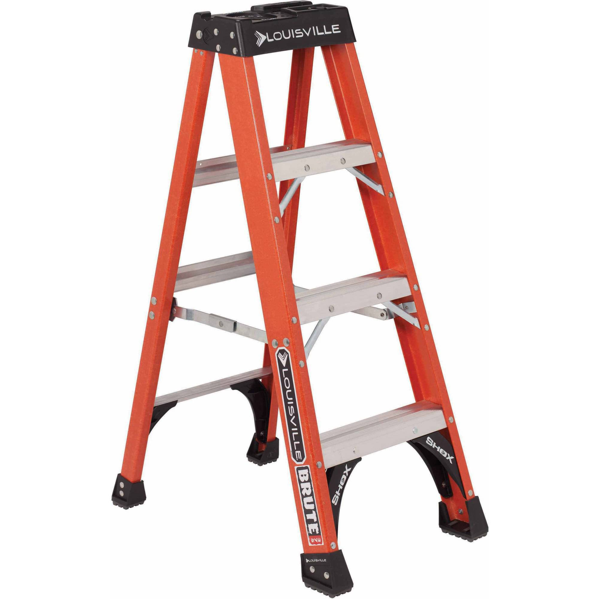 Louisville Ladder 4' Fiberglass Step Ladder, 375 lbs Duty Rated Type IAA