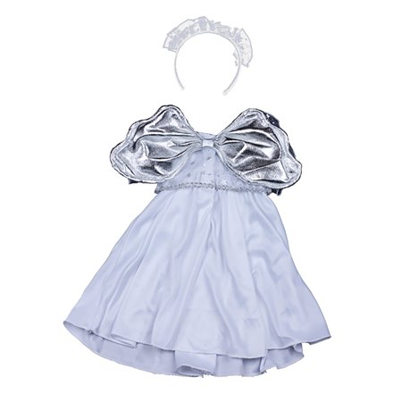 Dress Teddy (Silver Angel Dress Teddy Bear Clothes Outfit Fits Most 14