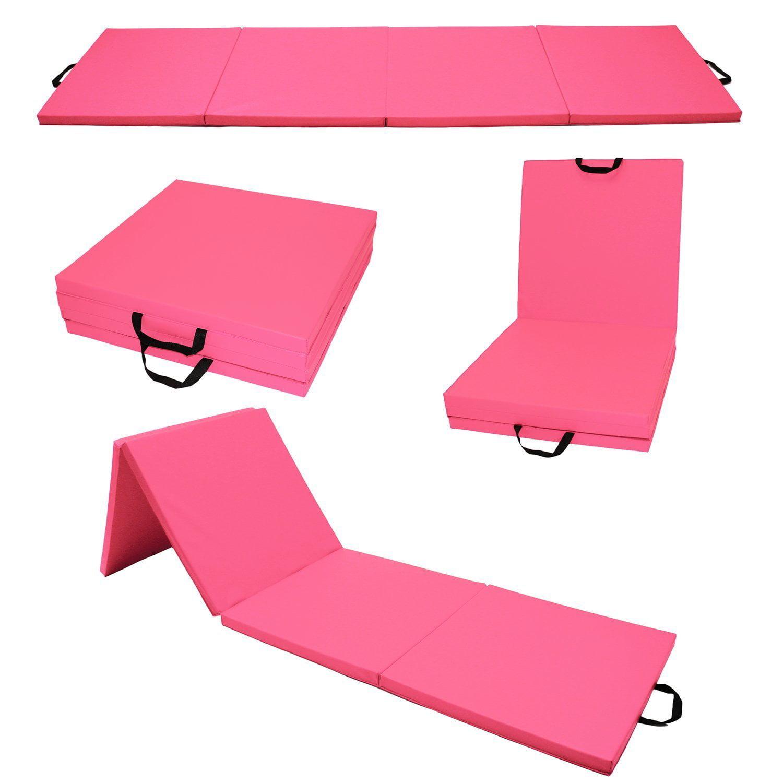 "2""x2'x8' Gymnastics Gym Folding Exercise Aerobics Mats Stretching Yoga Mat Light Weight Black by"