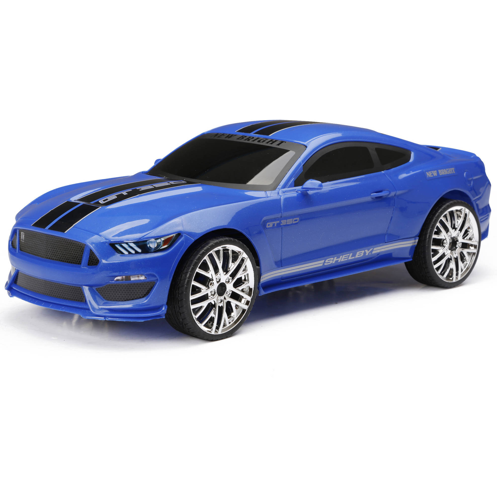 1:12 Chargers Full-Function Mustang R/C Car, Blue