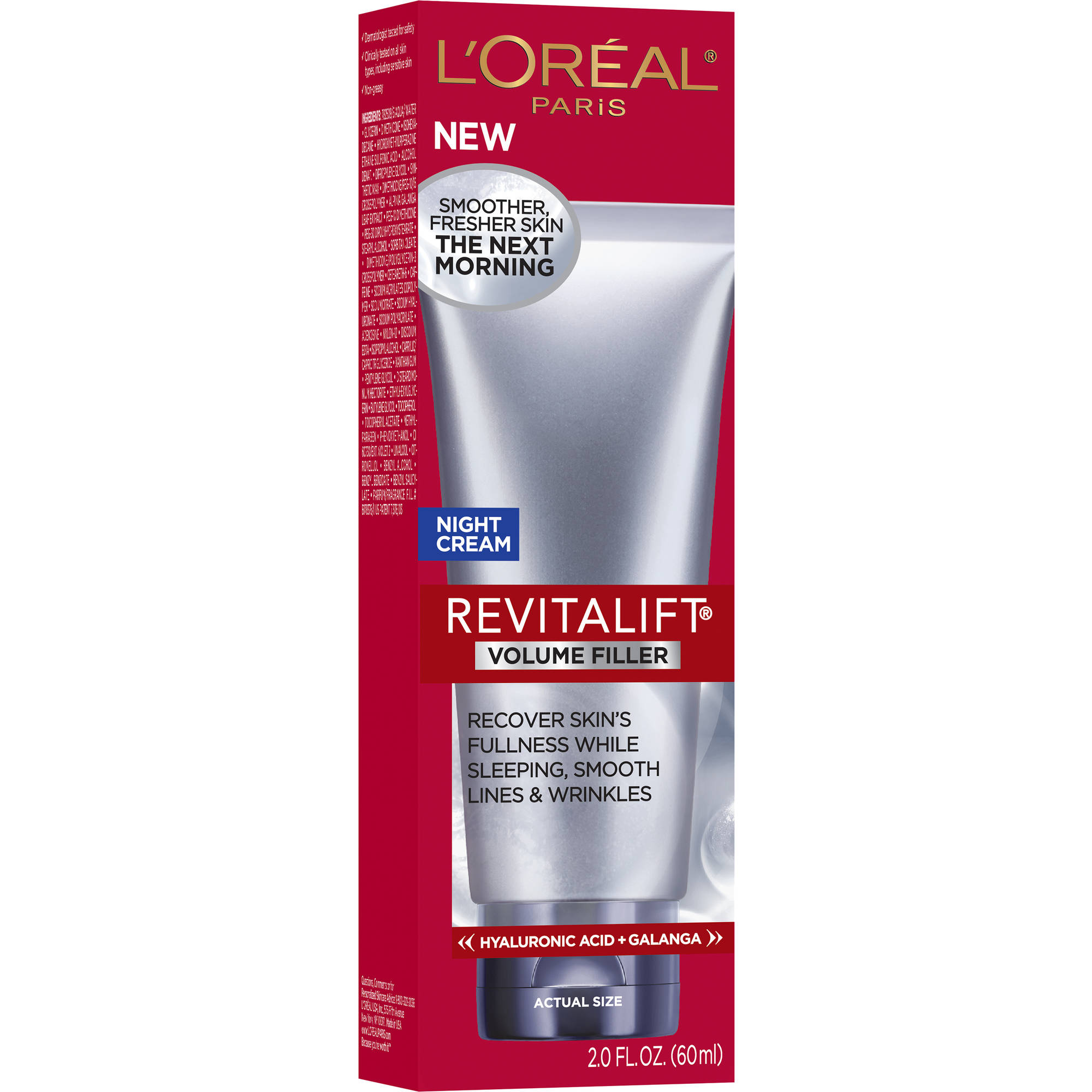 L'Oreal Paris RevitaLift Volume Filler Night Cream, 2.0 fl oz