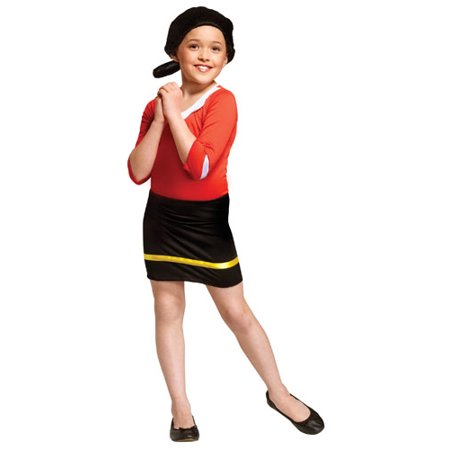 Child Olive Oyl Popeye Halloween Costume sz Large](Funny Halloween Costume Ideas For Large Groups)