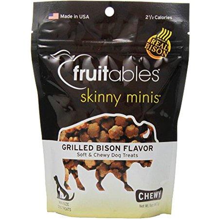 Bison Ribs - Fruitables Skinny Mini Dog Treats Grilled Bison Flavor, 5 oz