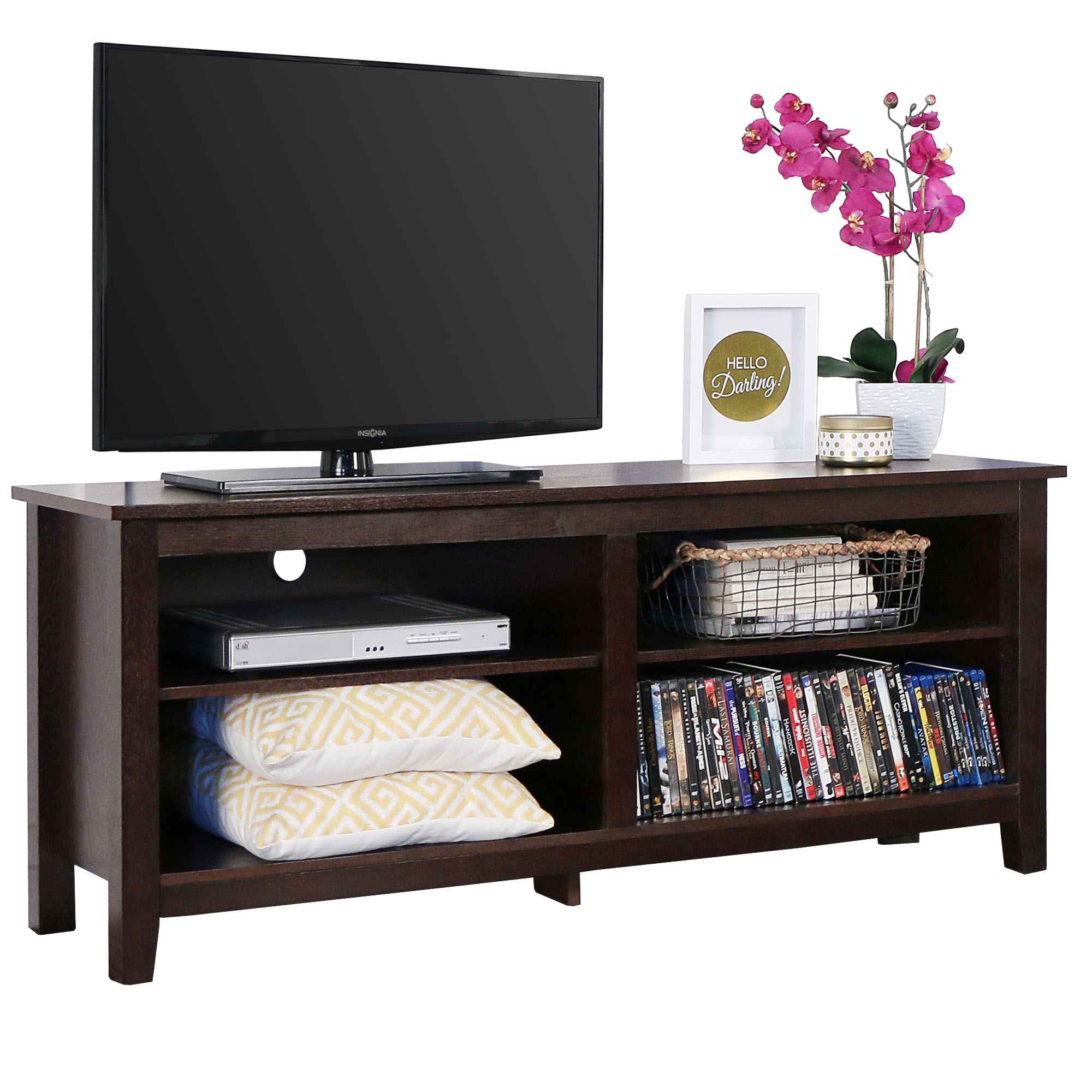 "Manor Park 58"" Wood TV Media Stand Storage Console - Espresso"