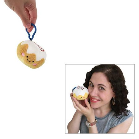 Cinnamon Bun Micro Squishable with Keychain Clip - Stuffed Animal (100563) (Animal Keychains)