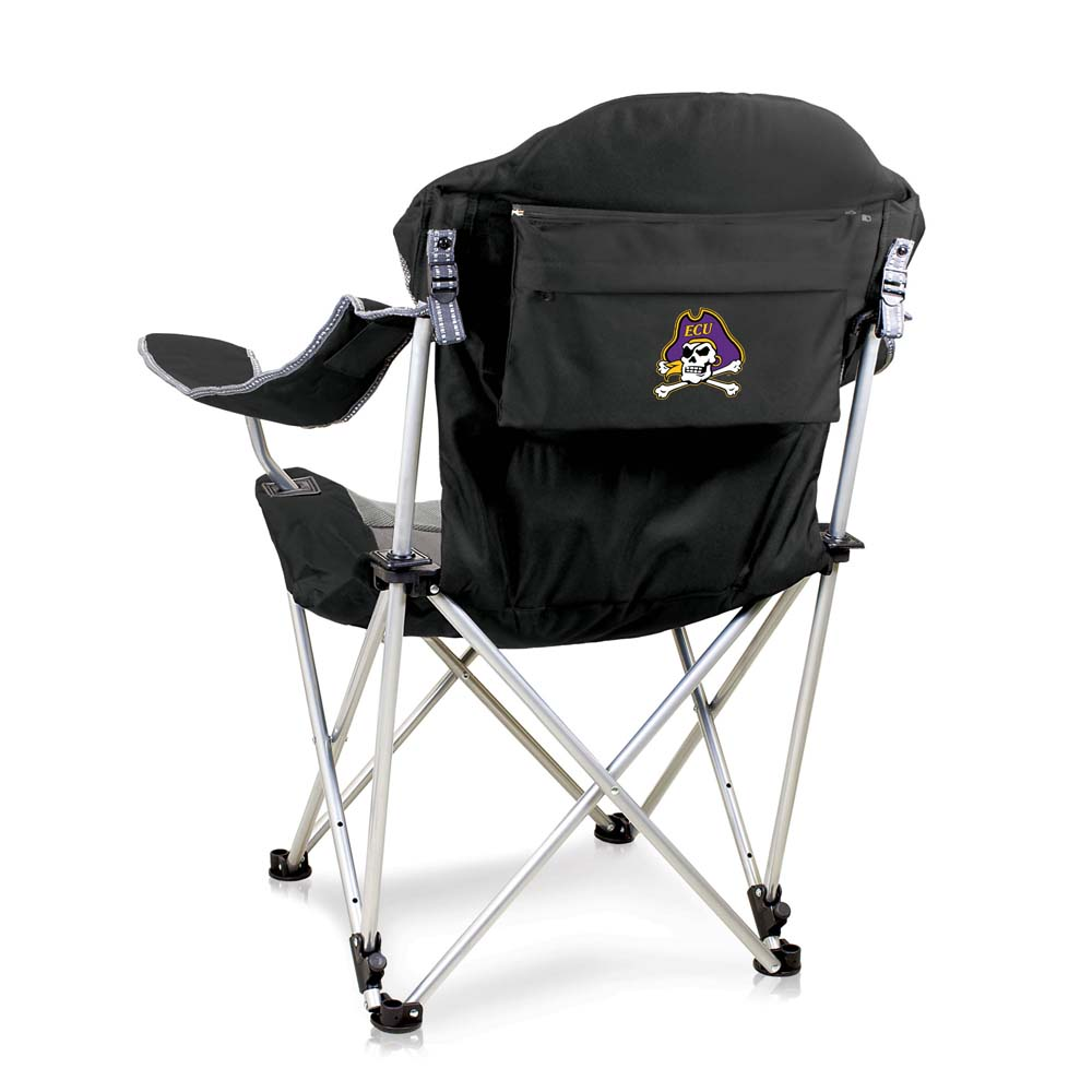 East Carolina Reclining Camp Chair (Black)