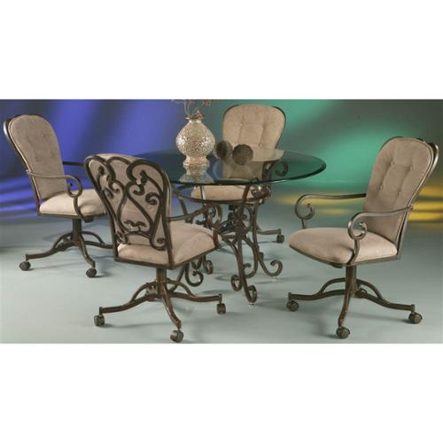 5 Pc Round Dining Table & Chairs Set - Magnolia