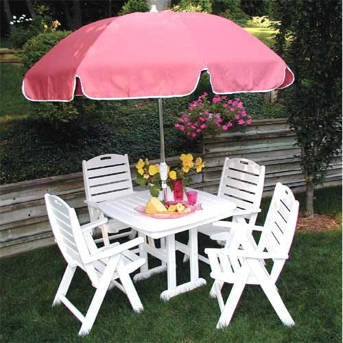 POLYWOOD® Recycled Plastic Nautical Breeze Patio Set - Seats 4