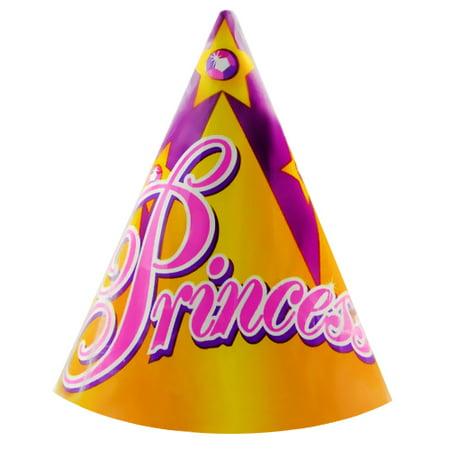 Princess Crown Cone Hats (8ct) (Princess Cone Hat)