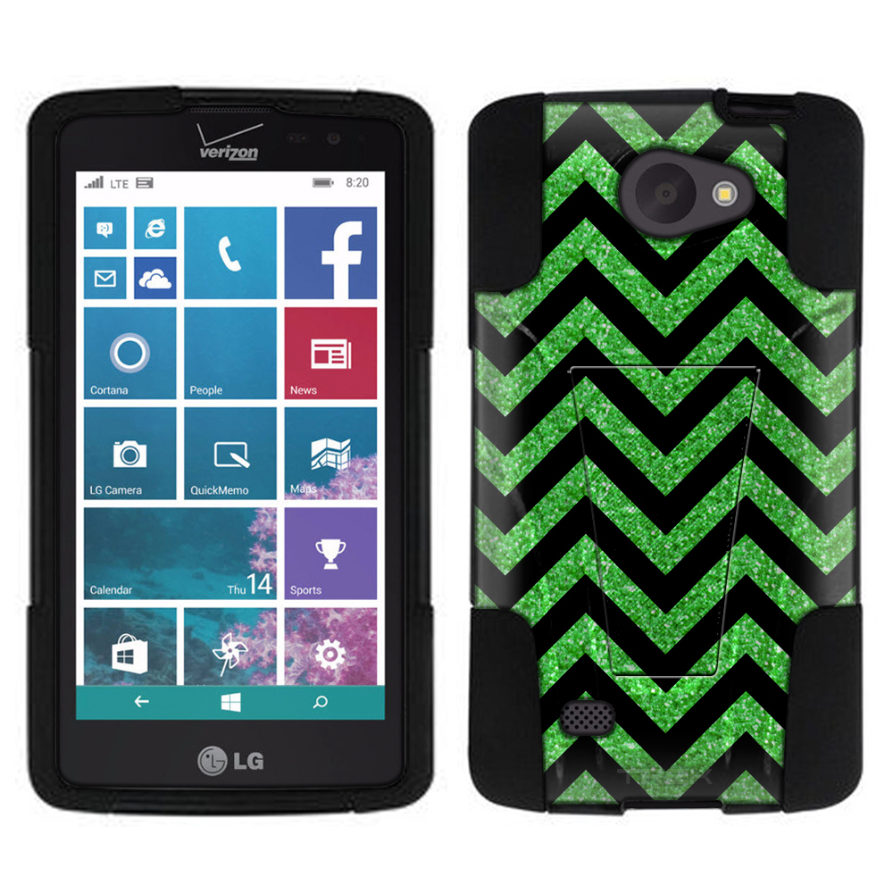 LG Lancet Hybrid Stand Case - Chevron Green Black