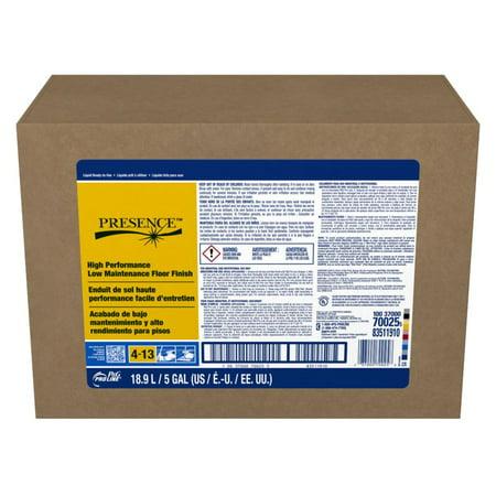 Procter & Gamble Pro Line Presence™ High Performance Low Maintenance Floor Finish #13, 5 Gallon Bag in the Box