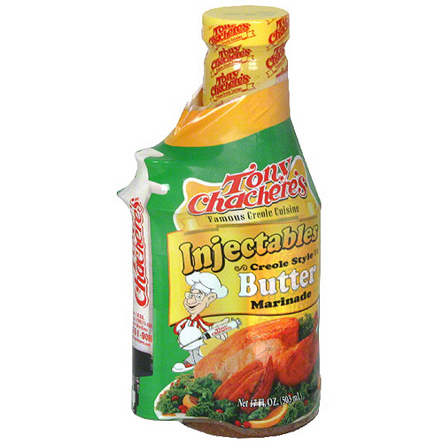 Tony Chachere's Famous Creole Cuisine Butter Injectables Marinade, 17 oz (Pack of 6)