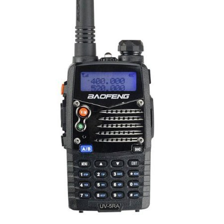 BaoFeng UV-5RA Ham Two Way Radio 136-174/400-480 MHz Dual-Band Transceiver (Black) (Small Ham Radio)