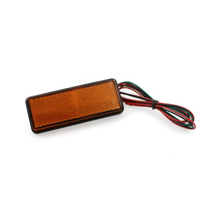 Ediors Motorcycle Car SUV Truck 24 LED Rectangle Reflector Lamp Tail Brake Turn Signal Stop Marker Light Amber