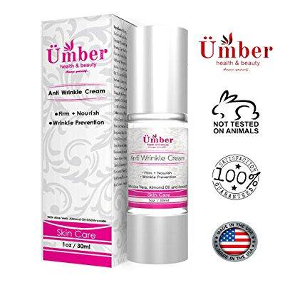 anti wrinkle retinol cream by umber nyc 30 ml. with almond oil & avocado. reduces fine lines, wrinkles, crows feet, dark circles and puffiness under your (Best Almond Oil For Dark Circles)