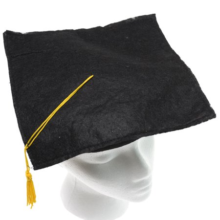 Black Felt Graduation Cap - Tiny Graduation Cap