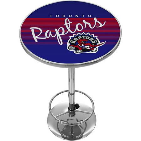 Toronto Raptors Hardwood Classics NBA Chrome Pub Table by