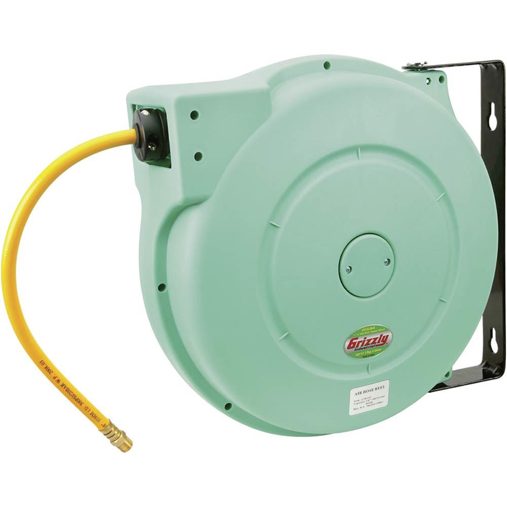 "Grizzly H5684 Hose Reel 3/8"" x 50' Pvc Casing"