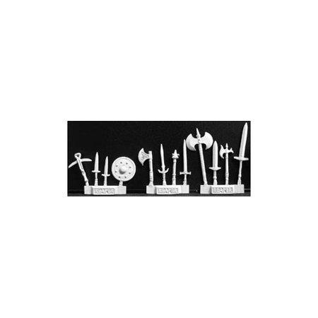 3 Channel Miniature - Reaper Miniatures Weapons Pack III #02209 Dark Heaven Legends Unpainted Metal