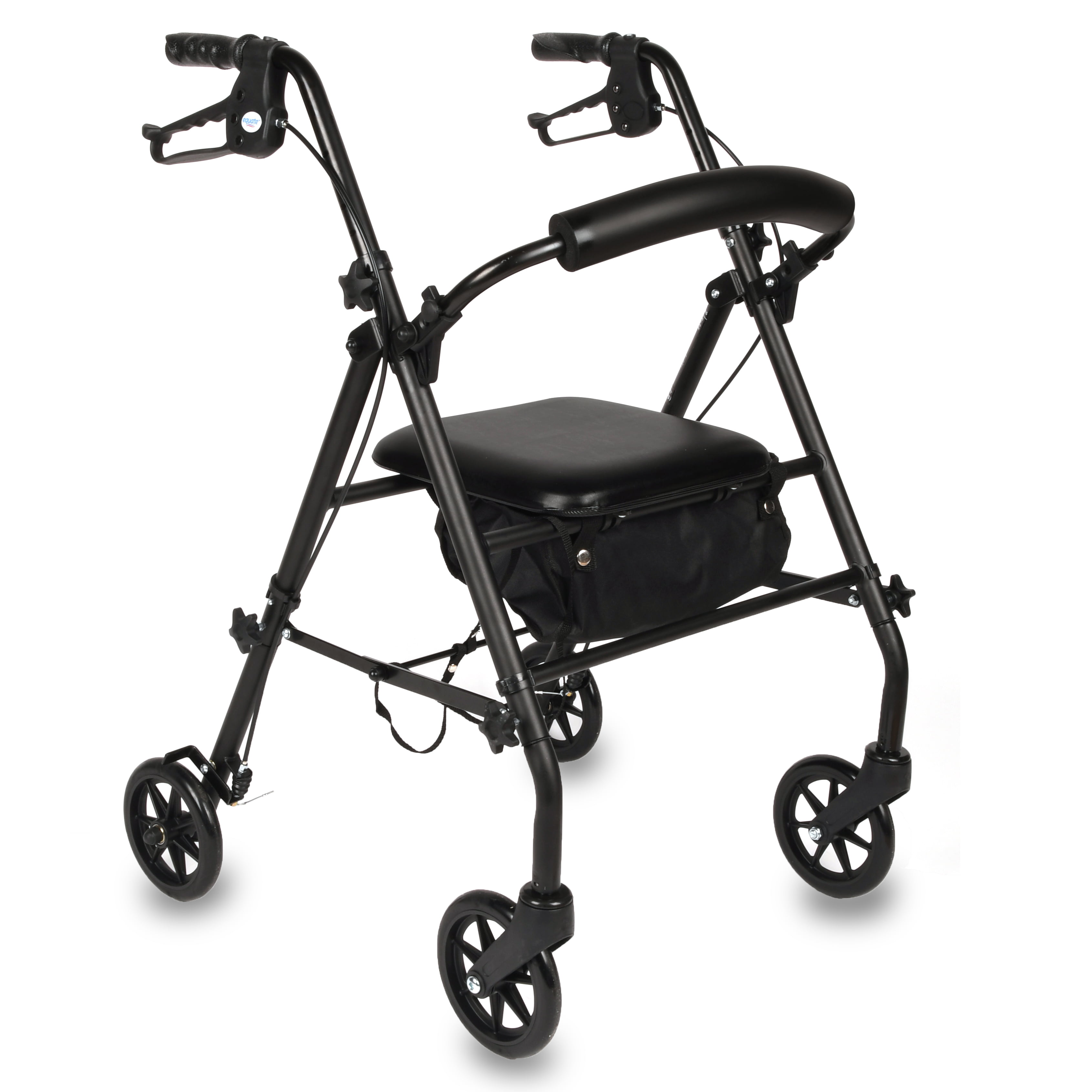 Equate Rolling Walker Black