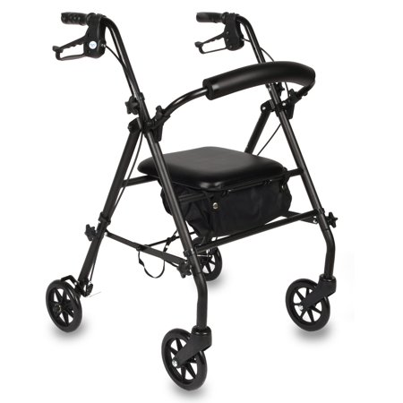 Equate Rolling Walker, Black