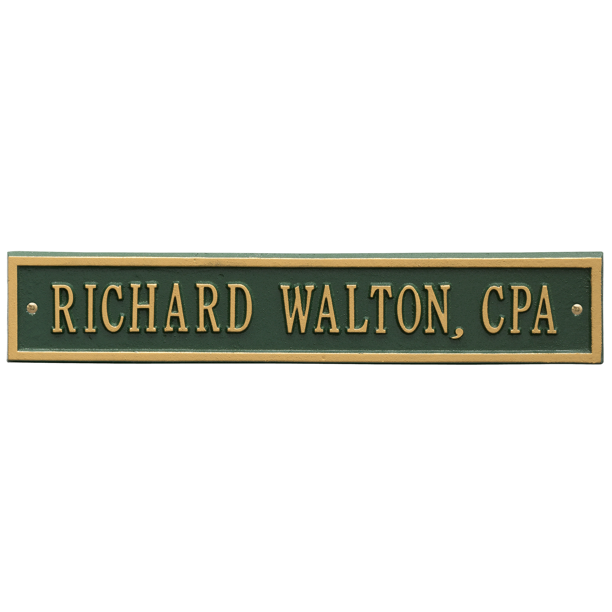 Personalized Whitehall Products 15-Inch Arch Extension Address Plaque in Green Gold by Whitehall