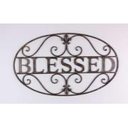 Wall Sign-Blessed-Oval-Bronze (27.75 x 16.75)