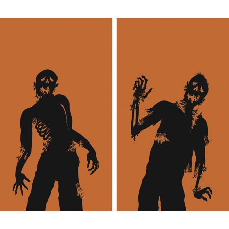 Halloween Backlit Window Posters (WOWindow Posters Ghoulies Silhouettes Halloween Window Decoration Two 34.5