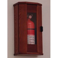 Wooden Mallet 5 lbs Fire Extinguisher Cabinet in Mahogany