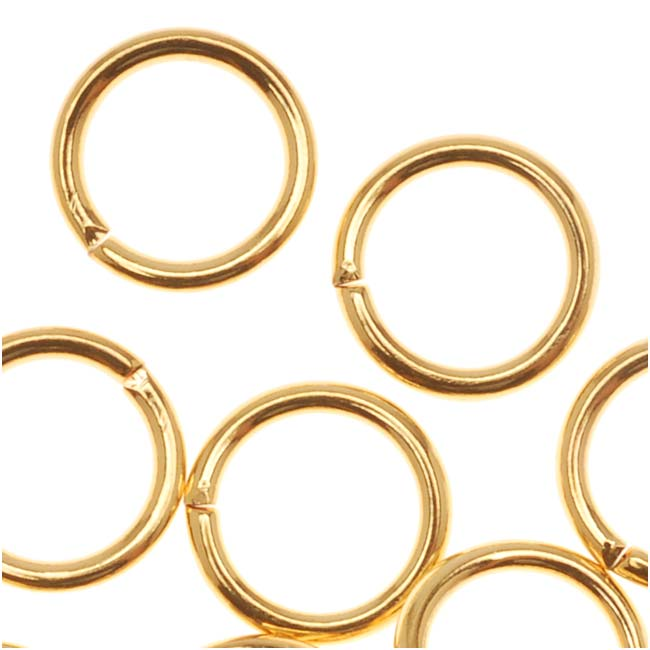22K Gold Plated Open 7mm Jump Rings 19 Gauge (20)