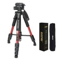 """ZOMEI Q111 55"""" Professional Aluminum Alloy Camera Tripod for DSLR Canon Nikon Sony DV Video and Smar"""