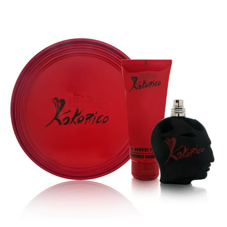 Kokorico by Jean Paul Gaultier for Men 2 Piece Set Includes: 1.6 oz Eau de Toilette Spray + 3.3 oz Perfumed Shower Gel