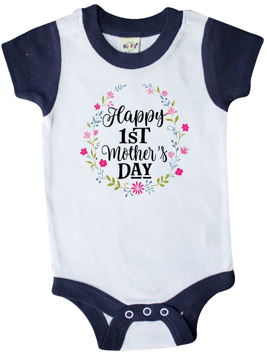 inktastic I Put The Happy in Mothers Day Long Sleeve Creeper