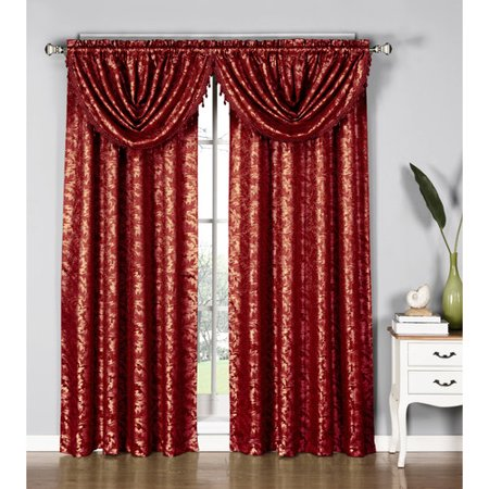 Dawson Shimmering Leaf Curtain Panels With Attached