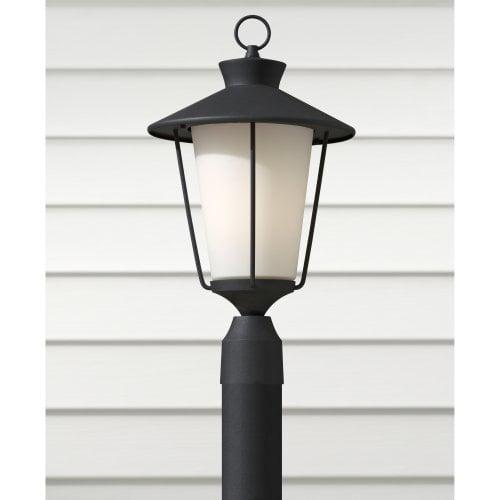 Feiss Hawkins Square OL8408TXB Post Lantern - 11W in. - Textured Black