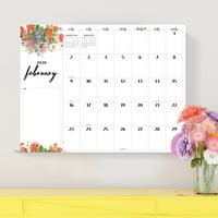 2020 Floral Script Desk Pad Calendar - 22x17 Desk Blotter for Home Office, Mom, Family Plans