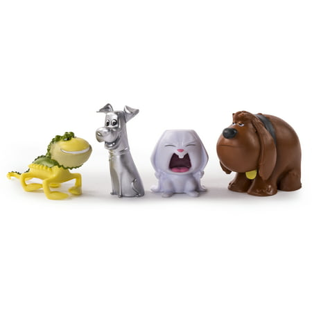 The Secret Life of Pets - Mini Pets Collectible Figures 4-Pack Ever wonder what your pets do while you?re not home? Explore The Secret Life of Pets with Mini Pets Collectible Figures! These action figures feature colorful, lifelike features and are perfect for play and display. Collect all of The Secret Life of Pets Figures to re-enact all the adventure and mischief that they get into while you?re away. Adopt, play and display The Secret Life of Pets Mini Pets Collectible Figures!