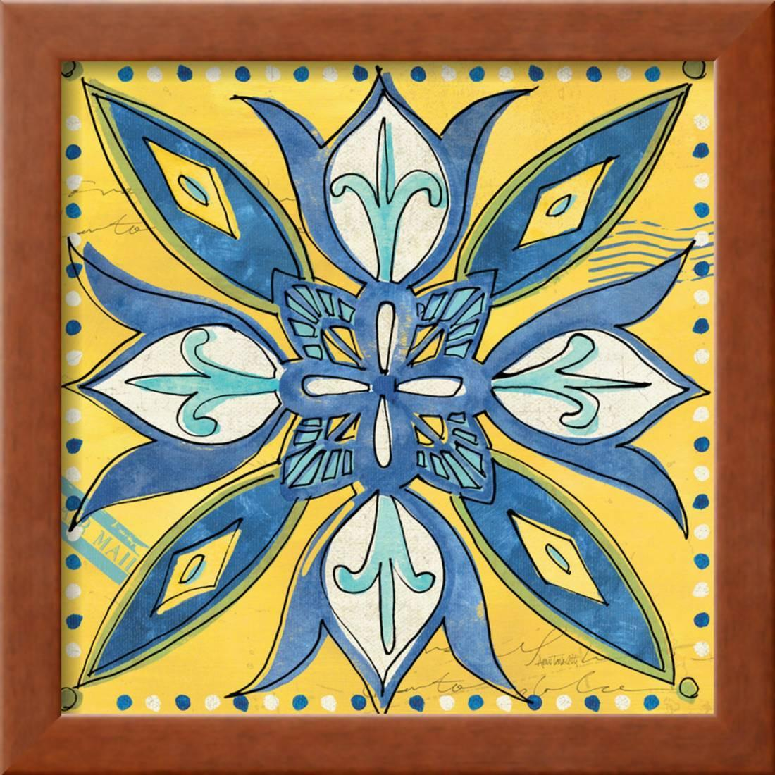Global Gallery Anne Tavoletti Tuscan Sun Tile III Color Giclee Stretched Canvas Artwork 30 x 30