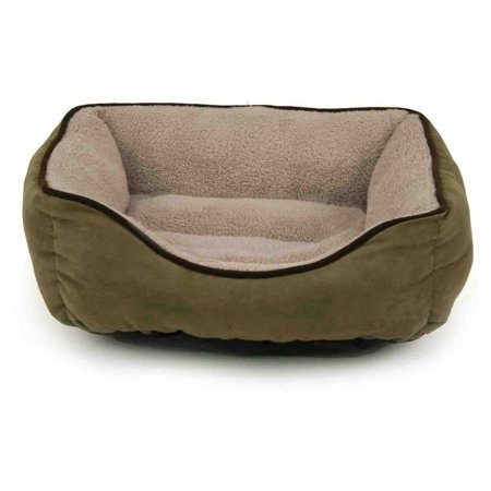 Dallas Manufacturing Company Faux Suede Box Pet Bed ()