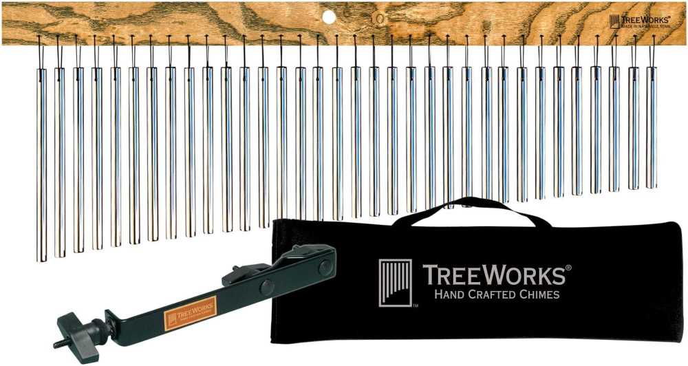 Treeworks Tre35 Aluminum Classic Chimes with Soft Bag and Free Mount by Treeworks