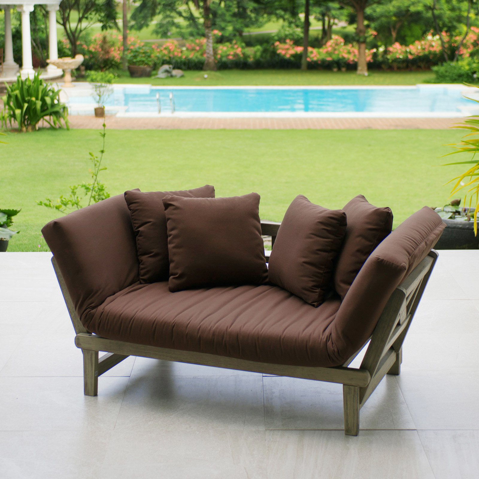 Cambridge Casual West Lake Patio Convertible Sofa Bed With Cushion