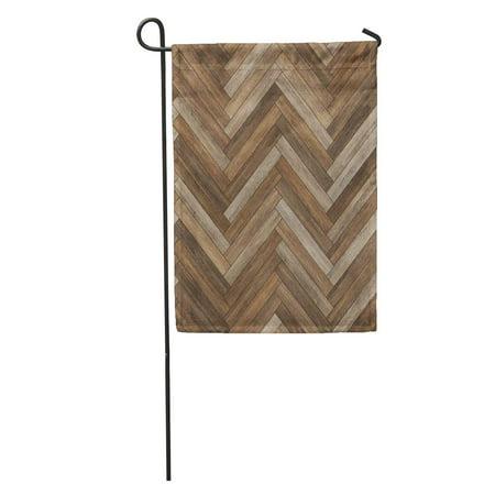 - KDAGR Arrow Wood Parquet Herringbone Brown Ash Beechwood Chevron Dark Floor Garden Flag Decorative Flag House Banner 28x40 inch