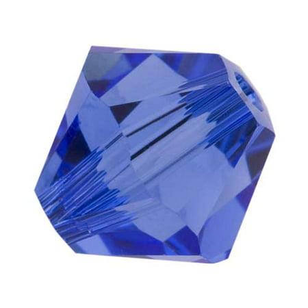 Swarovski Crystal, #5328 Bicone Beads 8mm, 8 Pieces, Sapphire 8mm Light Sapphire Swarovski Crystal
