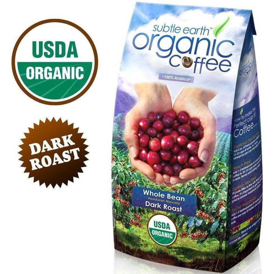 Subtle Earth Organic Dark Roast Whole Bean Coffee 2LB