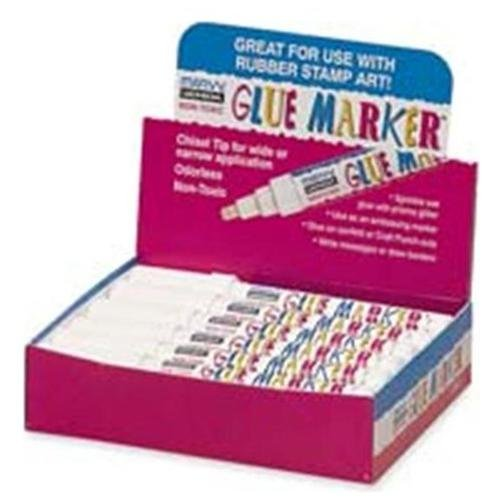Marvy Chisel Tip Glue Marker Display - 12/display Box - Clear (150S)