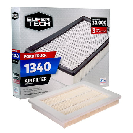 SuperTech 1340 Engine Air Filter, Replacement Filter for Ford or Ford Truck